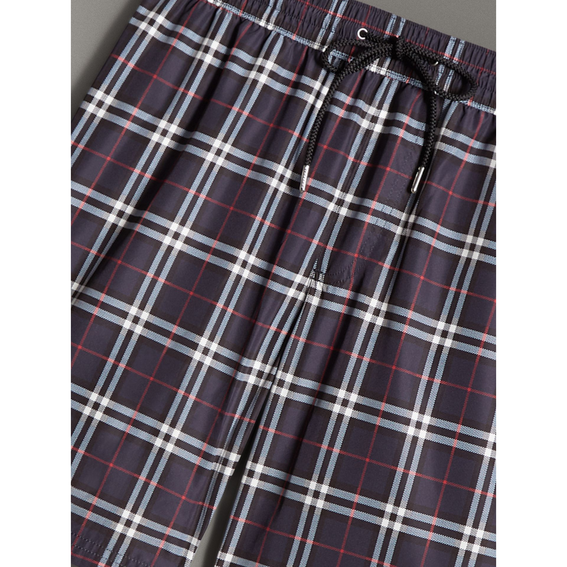 Vintage Check Drawcord Swim Shorts in Navy - Men | Burberry - gallery image 1