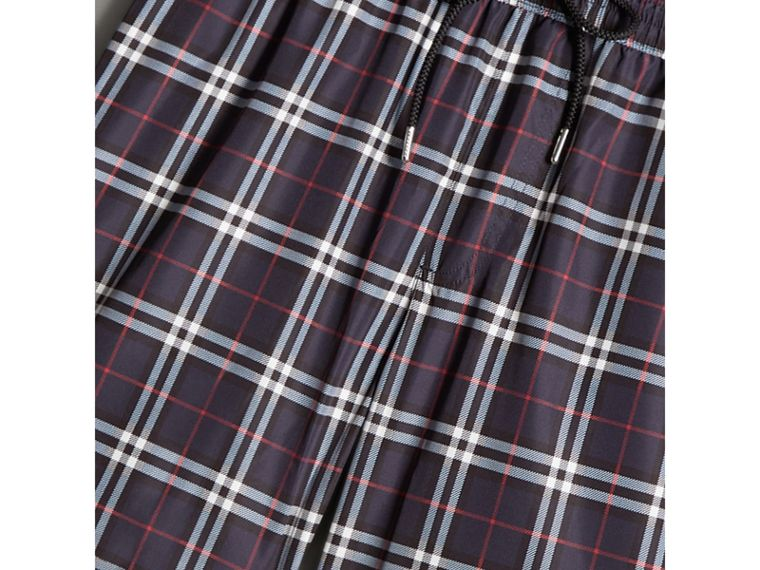 Vintage Check Drawcord Swim Shorts in Navy - Men | Burberry - cell image 1
