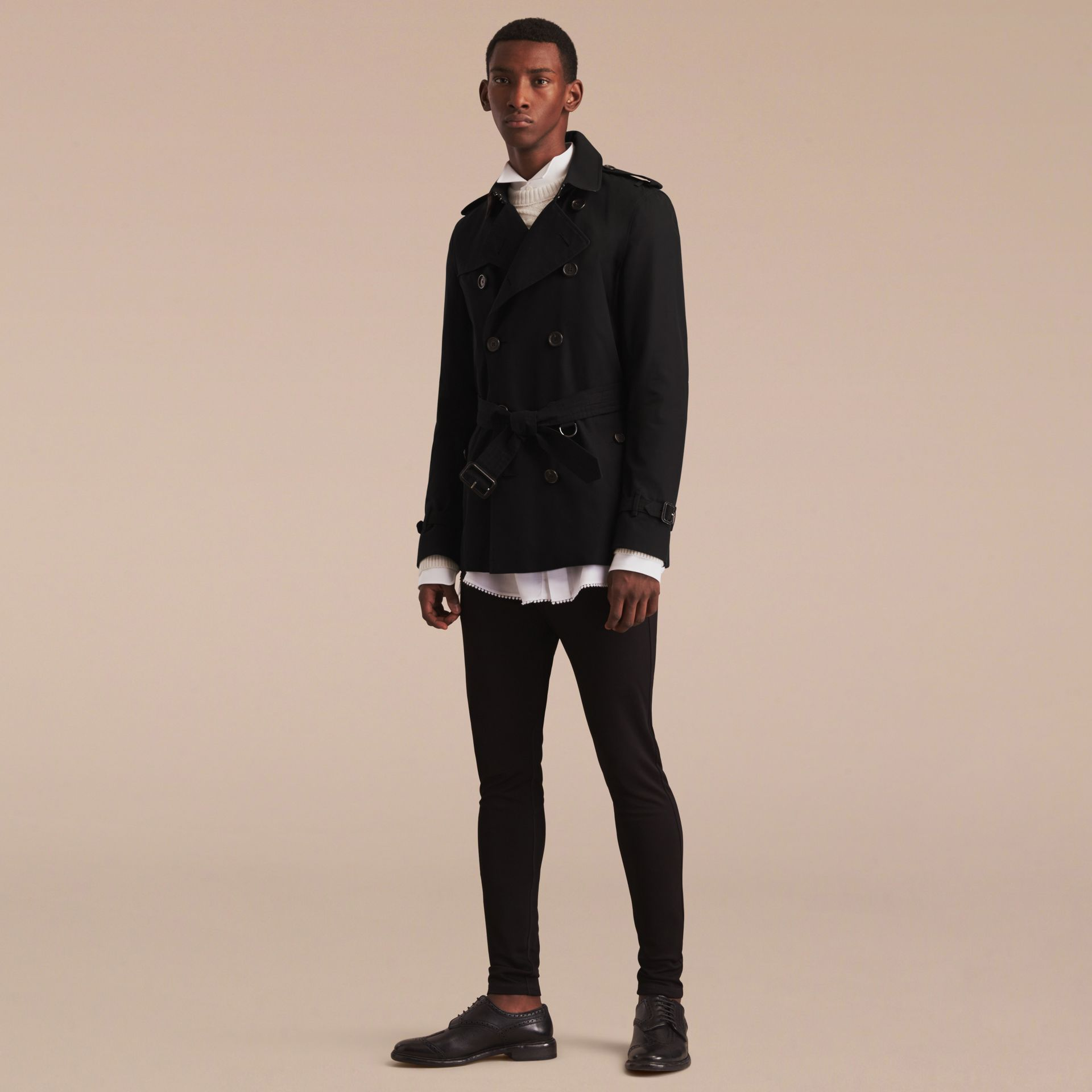 Black The Kensington – Short Heritage Trench Coat Black - gallery image 9