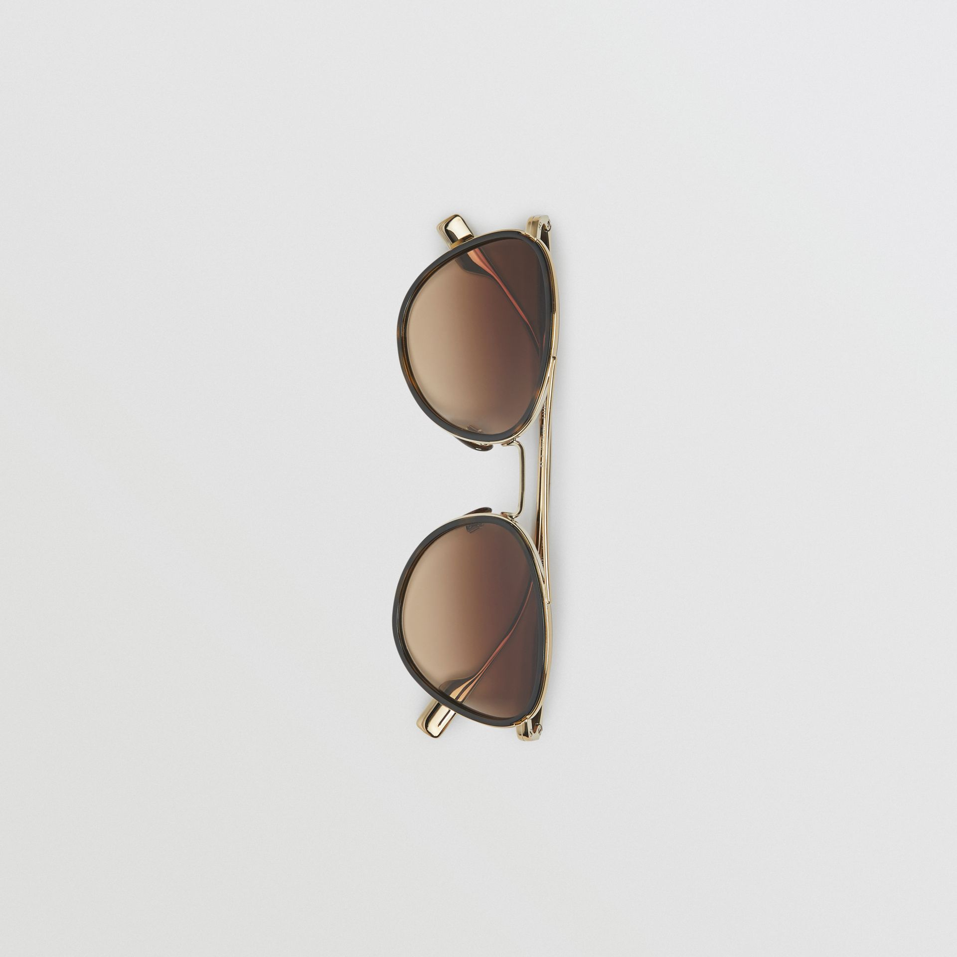 Pilot Sunglasses in Tortoise Shell - Women | Burberry United States - gallery image 3