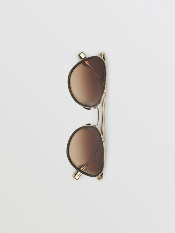 Pilot Sunglasses in Tortoise Shell - Women | Burberry - cell image 3