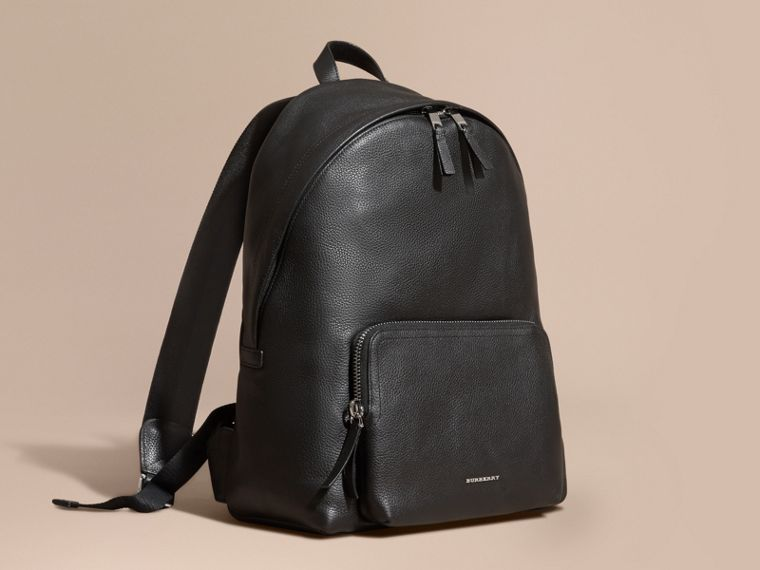 Grainy Leather Backpack - cell image 1