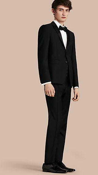 Modern Fit Wool Mohair Half-canvas Tuxedo