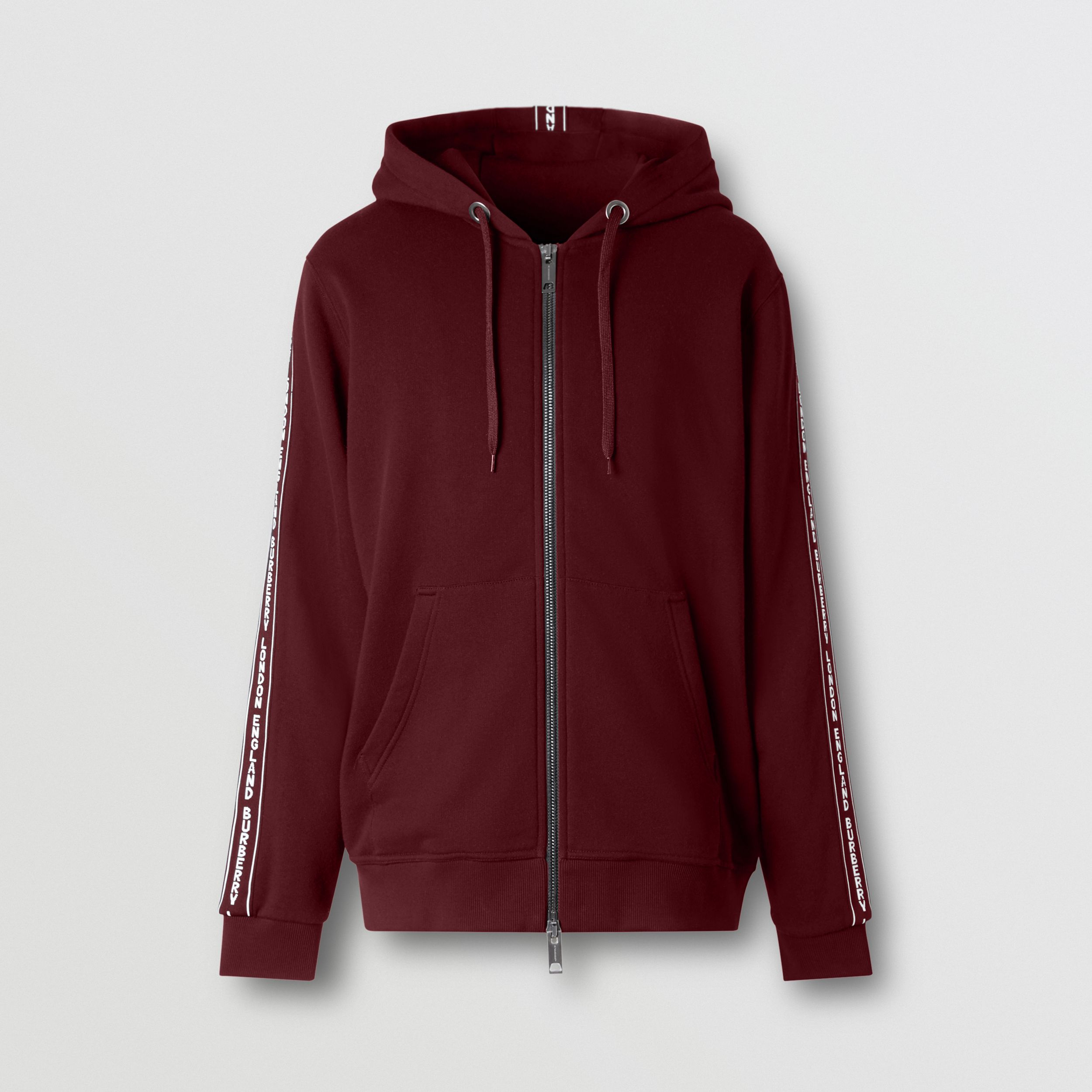 Logo Tape Cotton Hooded Top - Men | Burberry - 4
