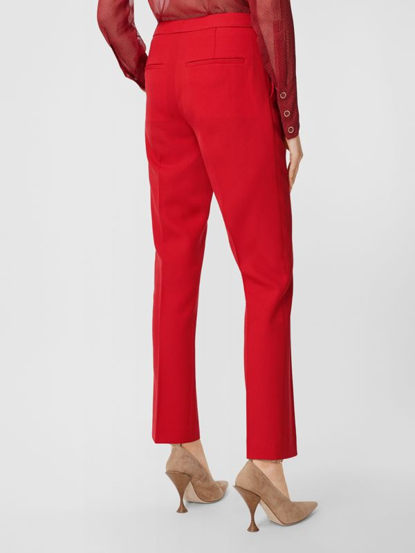 Wool Tailored Trousers in Bright Red - Women | Burberry United Kingdom - cell image 2