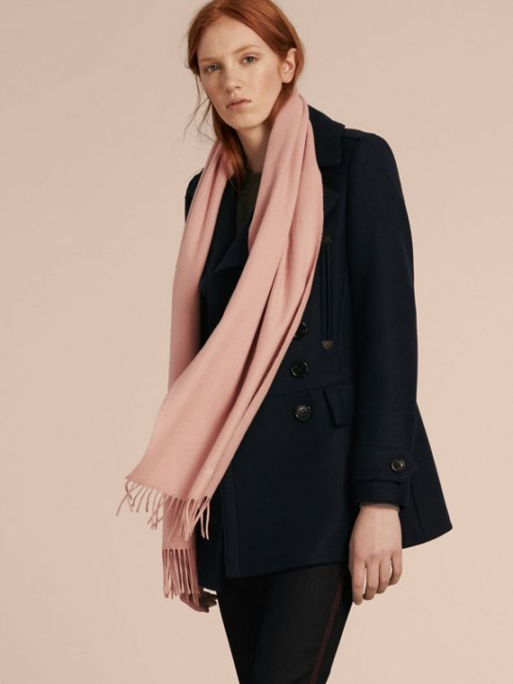 The Classic Cashmere Scarf in Ash Rose | Burberry Australia - cell image 3