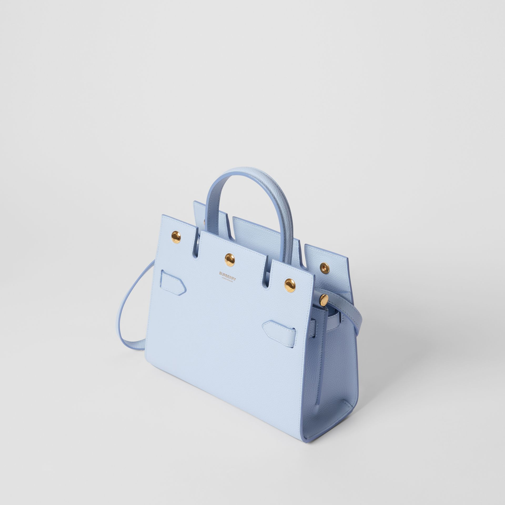 Mini Leather Title Bag in Pale Blue   Burberry United Kingdom - gallery image 3