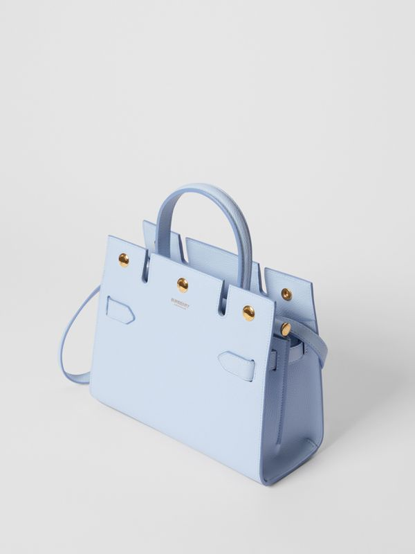 Mini Leather Title Bag in Pale Blue   Burberry United Kingdom - cell image 3