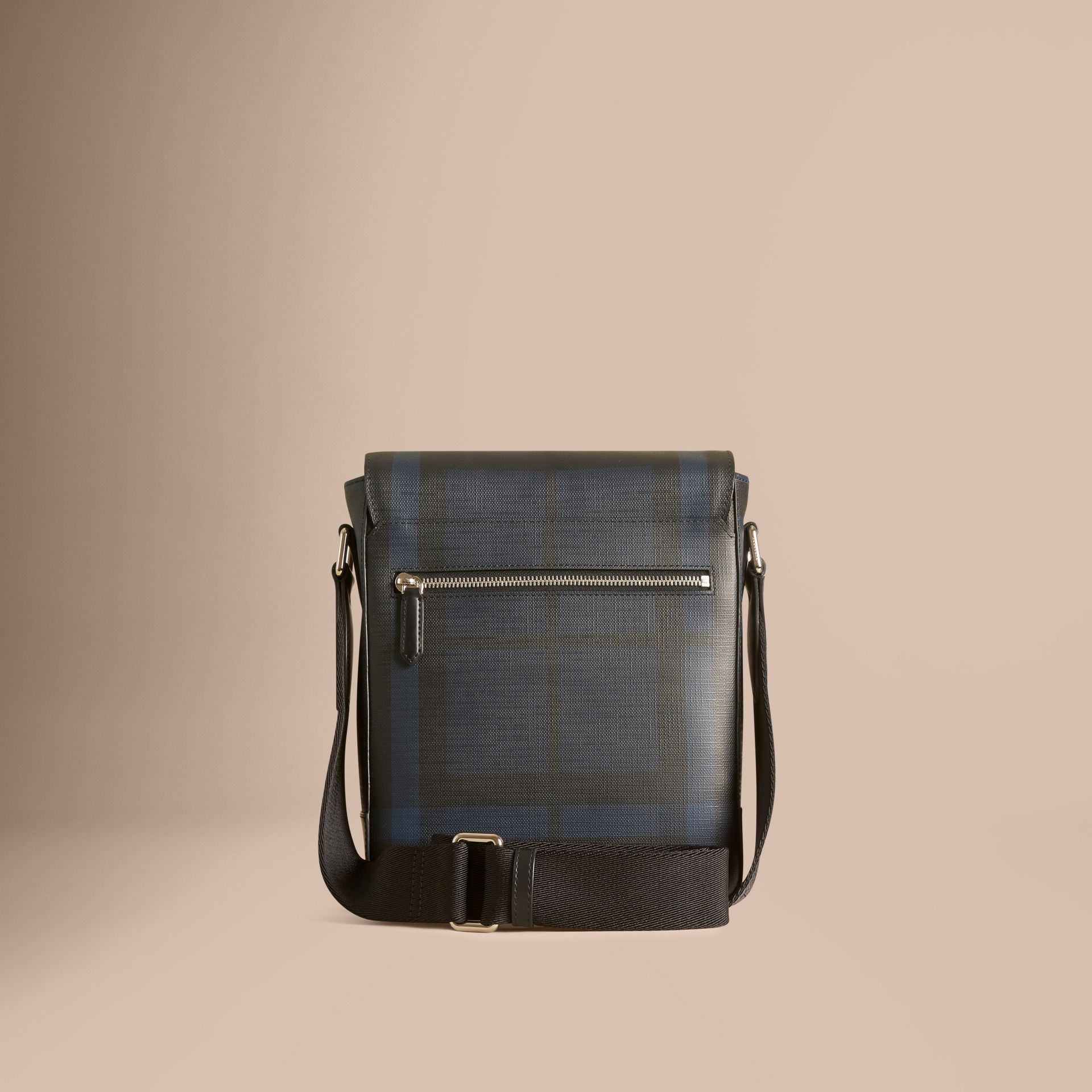 London Check Crossbody Bag in Navy/black - gallery image 4