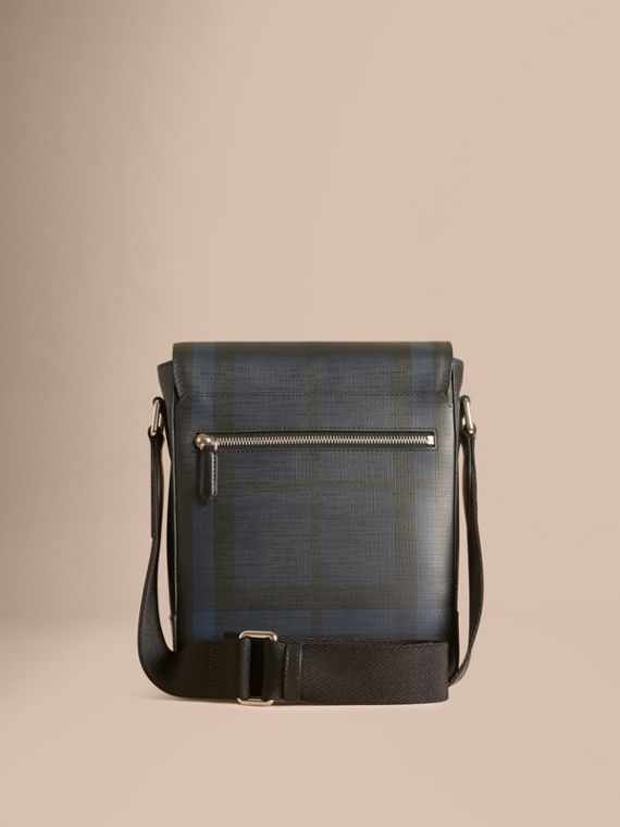 London Check Crossbody Bag in Navy/black - cell image 3