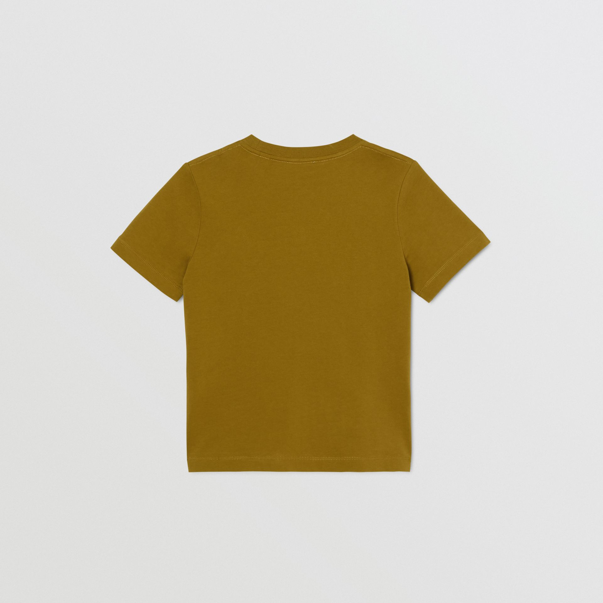 Logo Print Cotton T-shirt in Olive | Burberry United Kingdom - gallery image 4