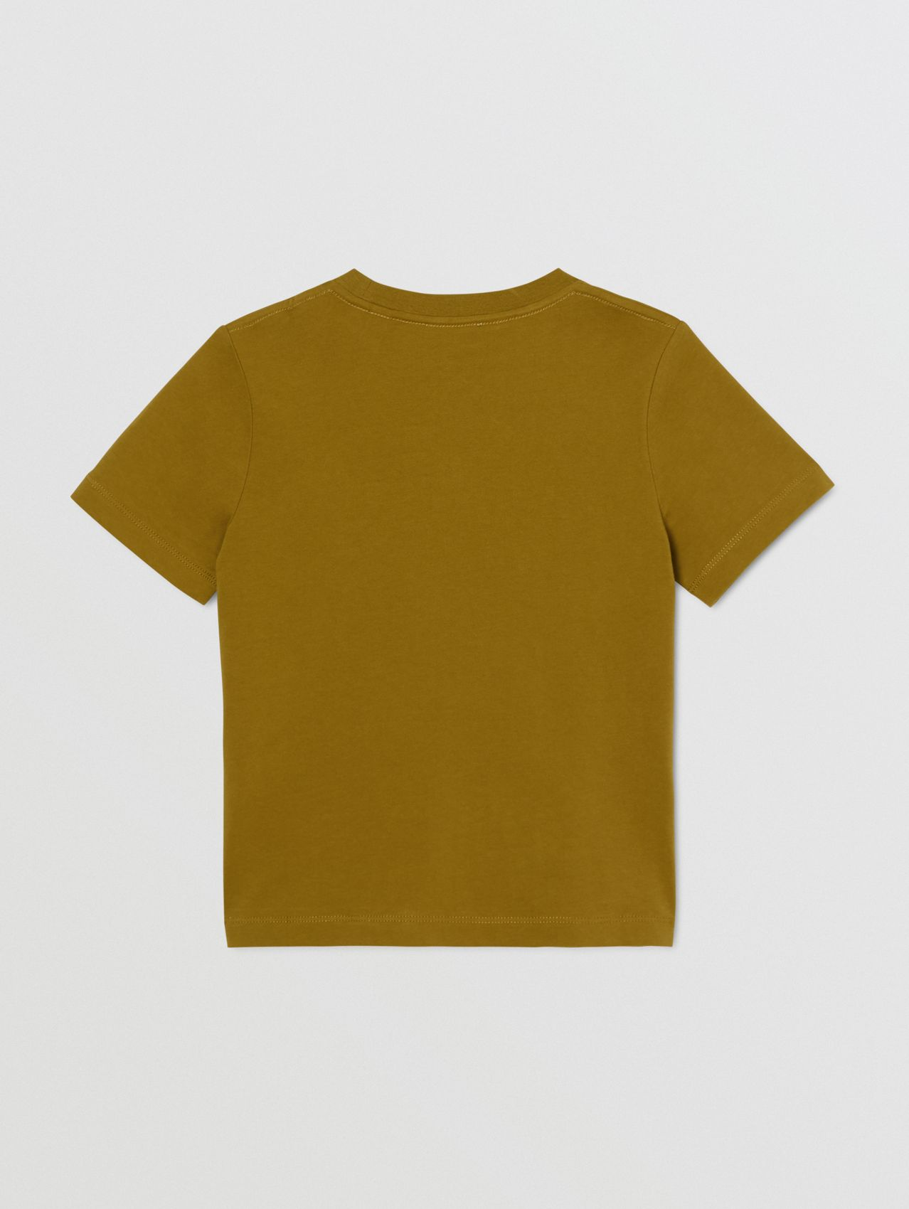 Logo Print Cotton T-shirt in Olive