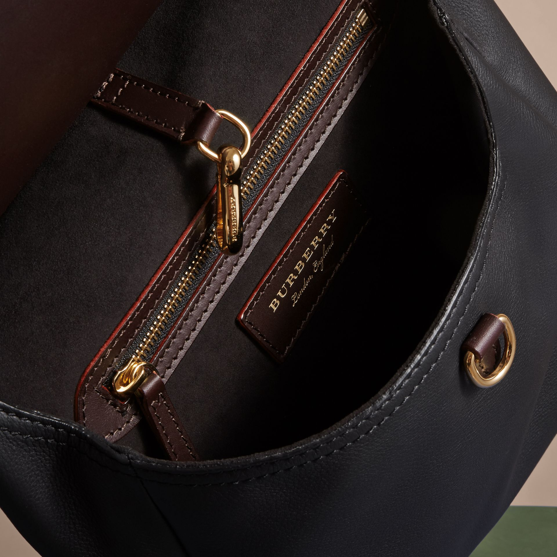 The Small Bridle Bag in Leather in Wine - Men | Burberry - gallery image 5