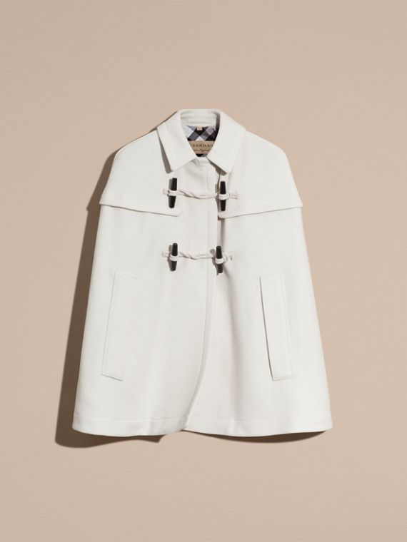 Natural white Wool Cashmere Duffle Cape Coat Natural White - cell image 3