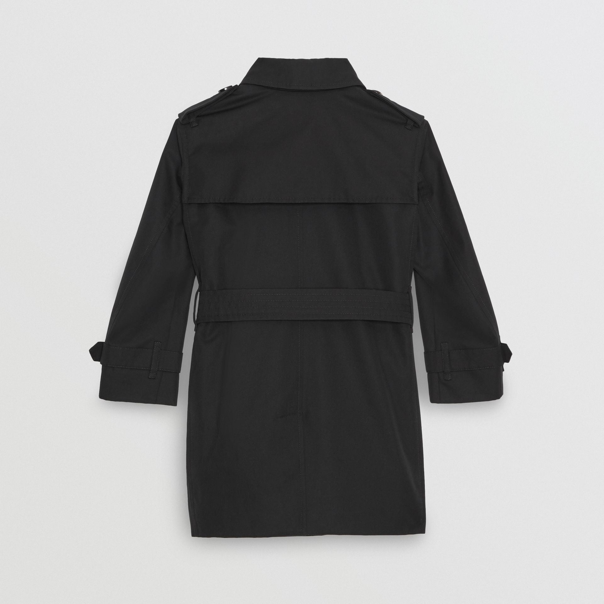 Cotton Gabardine Trench Coat in Black | Burberry Singapore - gallery image 4