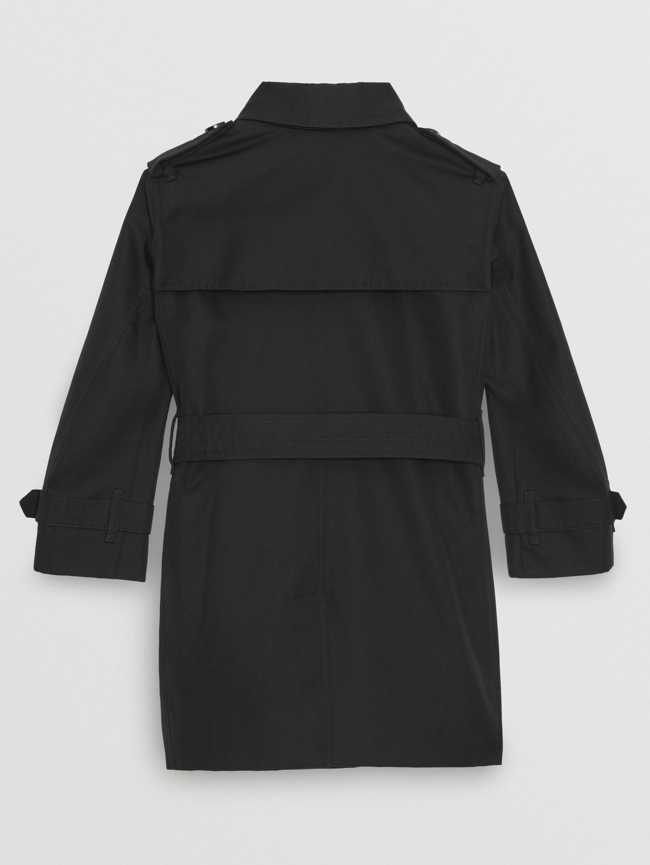 Cotton Gabardine Trench Coat in Black