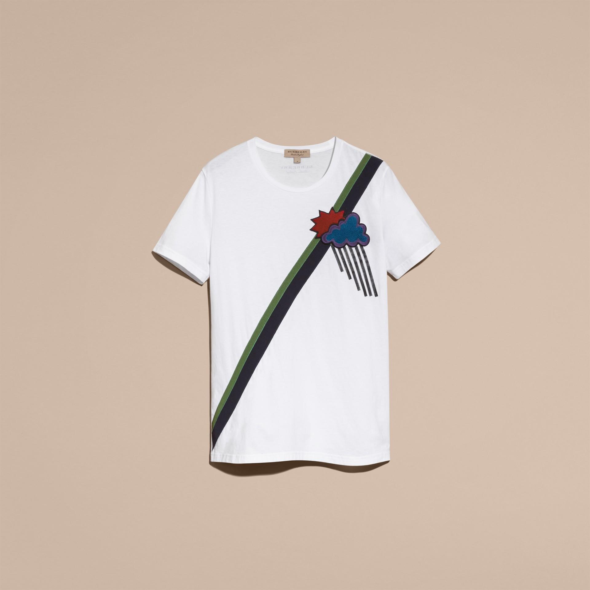 Weather Appliqué Cotton T-shirt - gallery image 4