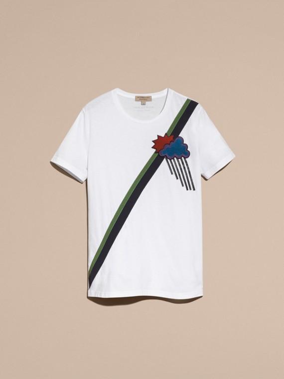 Weather Appliqué Cotton T-shirt - cell image 3