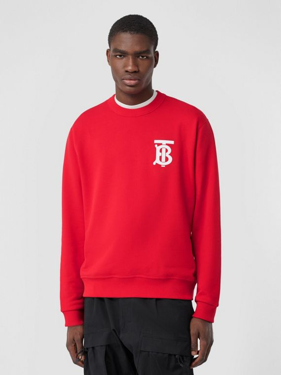 Sweat-shirt en coton Monogram (Rouge Vif)