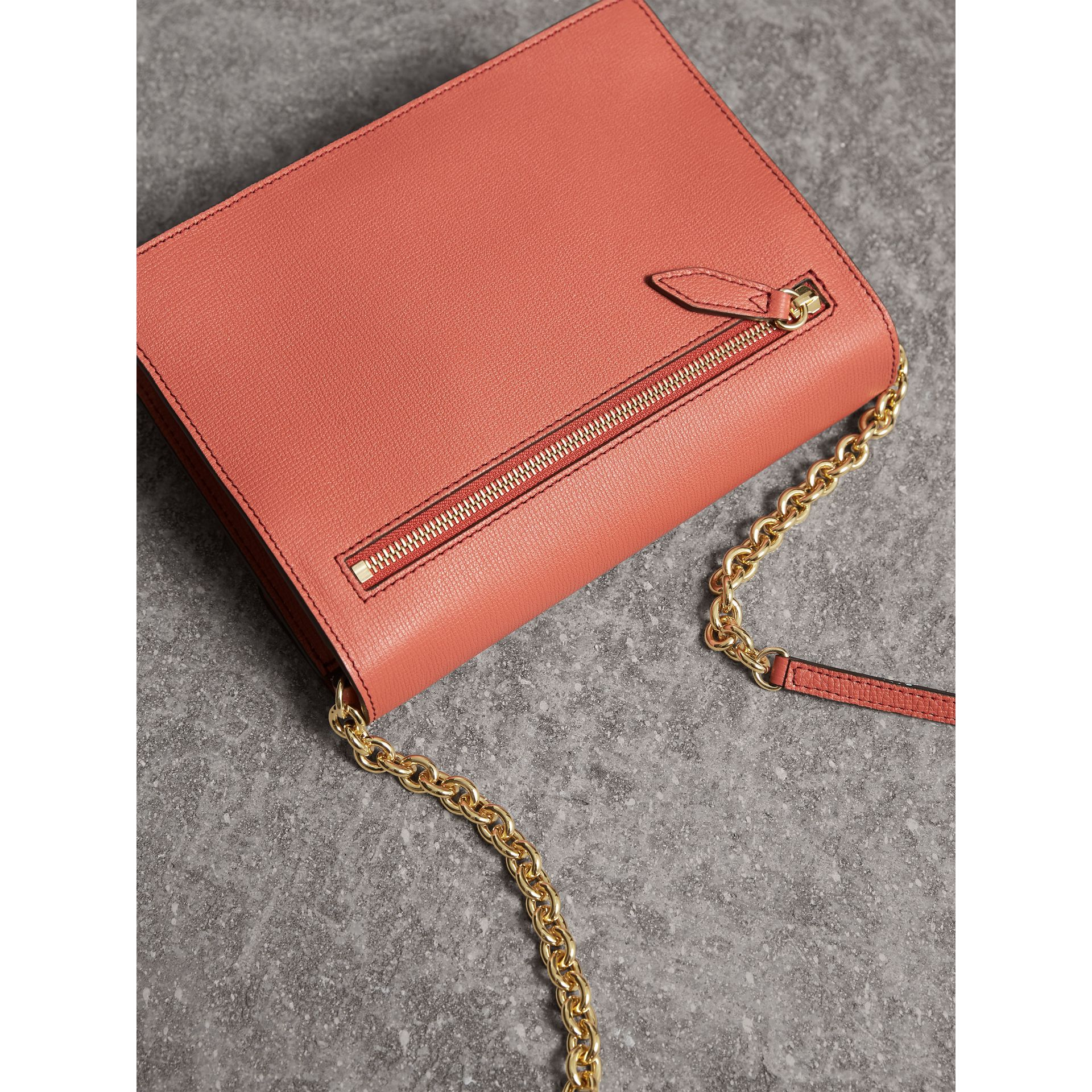 Small Leather Crossbody Bag in Cinnamon Red - Women | Burberry Hong Kong - gallery image 4