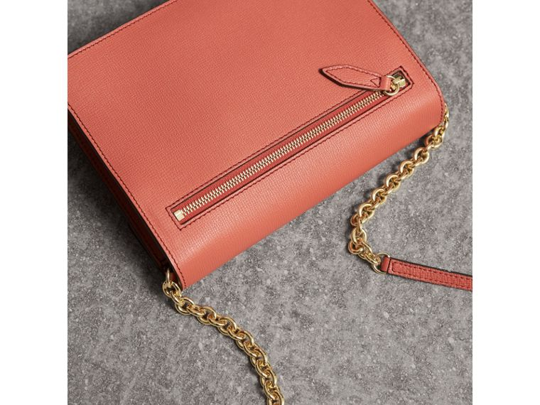 Small Leather Crossbody Bag in Cinnamon Red - Women | Burberry - cell image 4