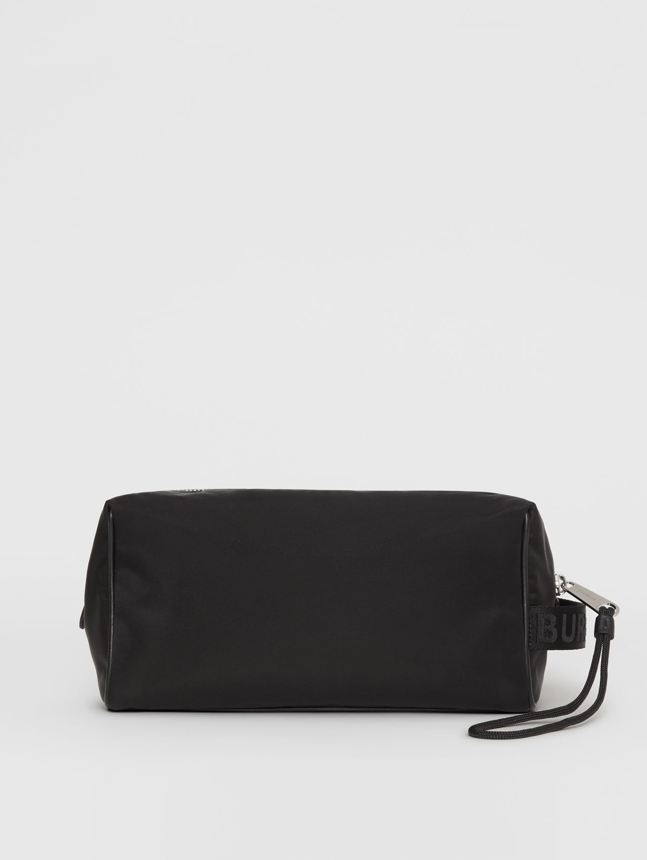 Leather Monogram Motif Travel Pouch in Black