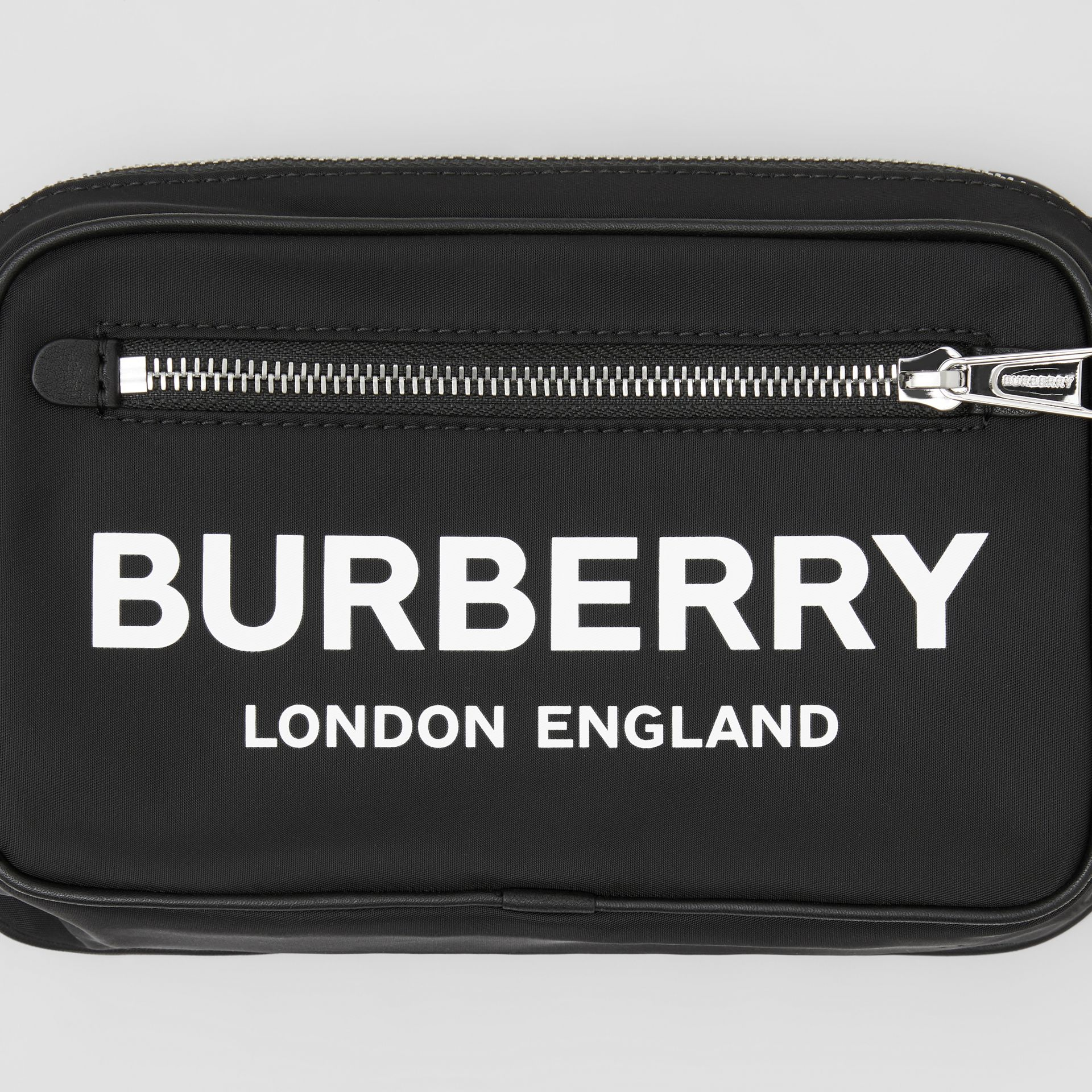 Logo Print Nylon Bum Bag in Black | Burberry - gallery image 8