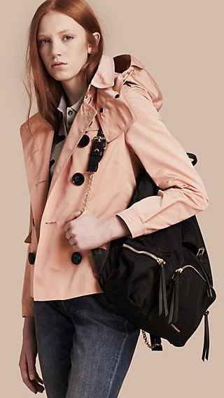 Showerproof Taffeta Trench Jacket with Detachable Hood