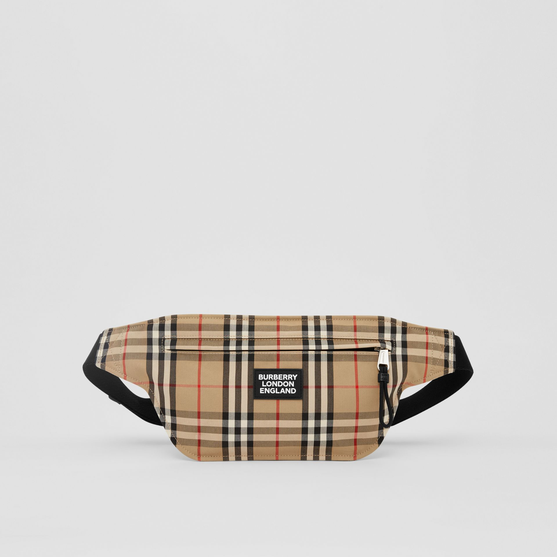 Logo Appliqué Vintage Check Brummell Bum Bag in Archive Beige | Burberry - gallery image 0