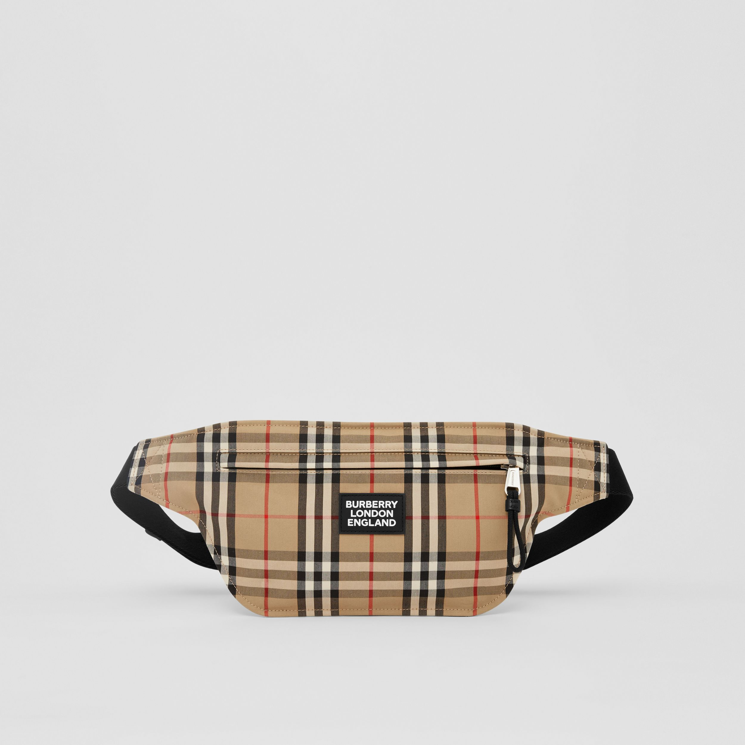 Logo Appliqué Vintage Check Brummell Bum Bag in Archive Beige | Burberry - 1
