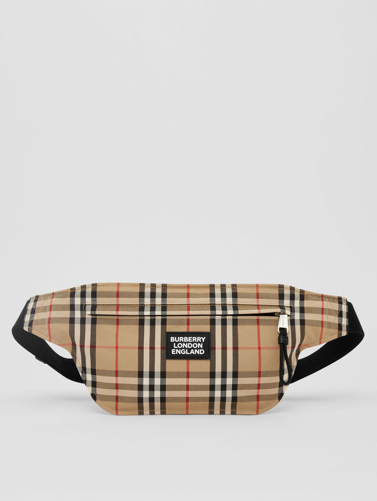 Logo Appliqué Vintage Check Brummell Bum Bag (Archive Beige)