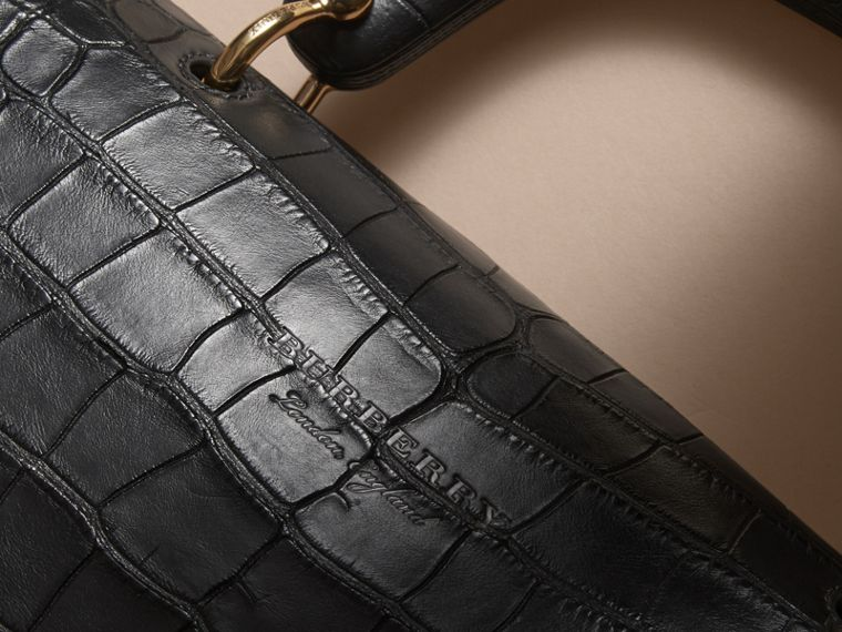 The Medium DK88 Top Handle Bag in Alligator in Black - Women | Burberry - cell image 4