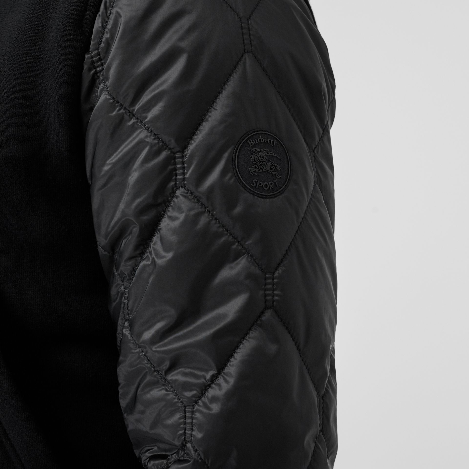 Reversible Diamond Quilted Hooded Jacket in Black - Men | Burberry - gallery image 4