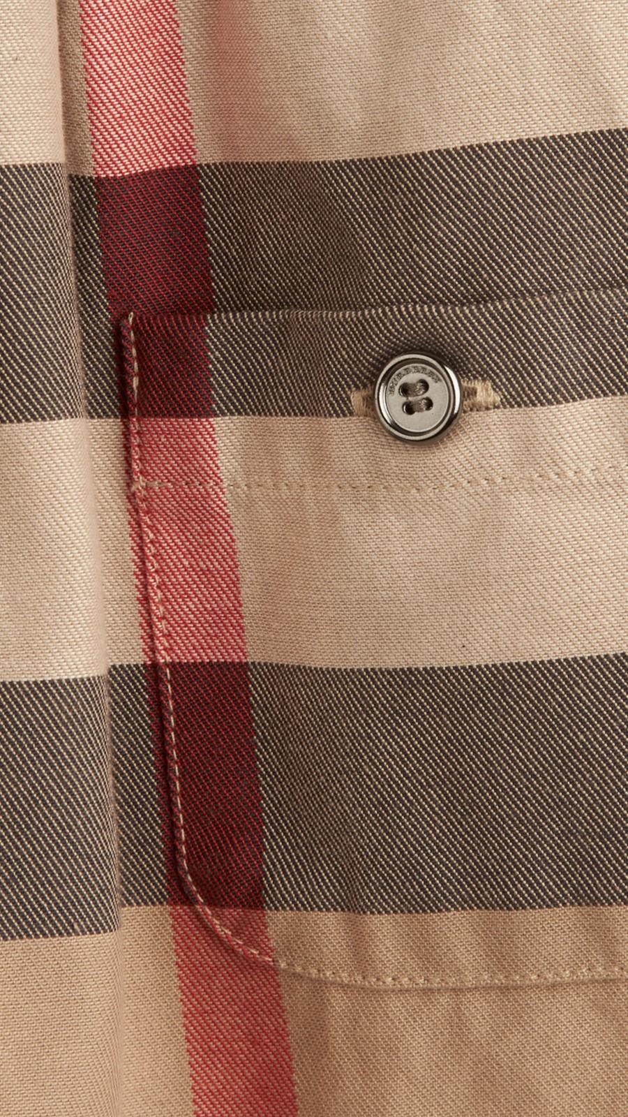 New classic Check Cotton Dress - Image 2
