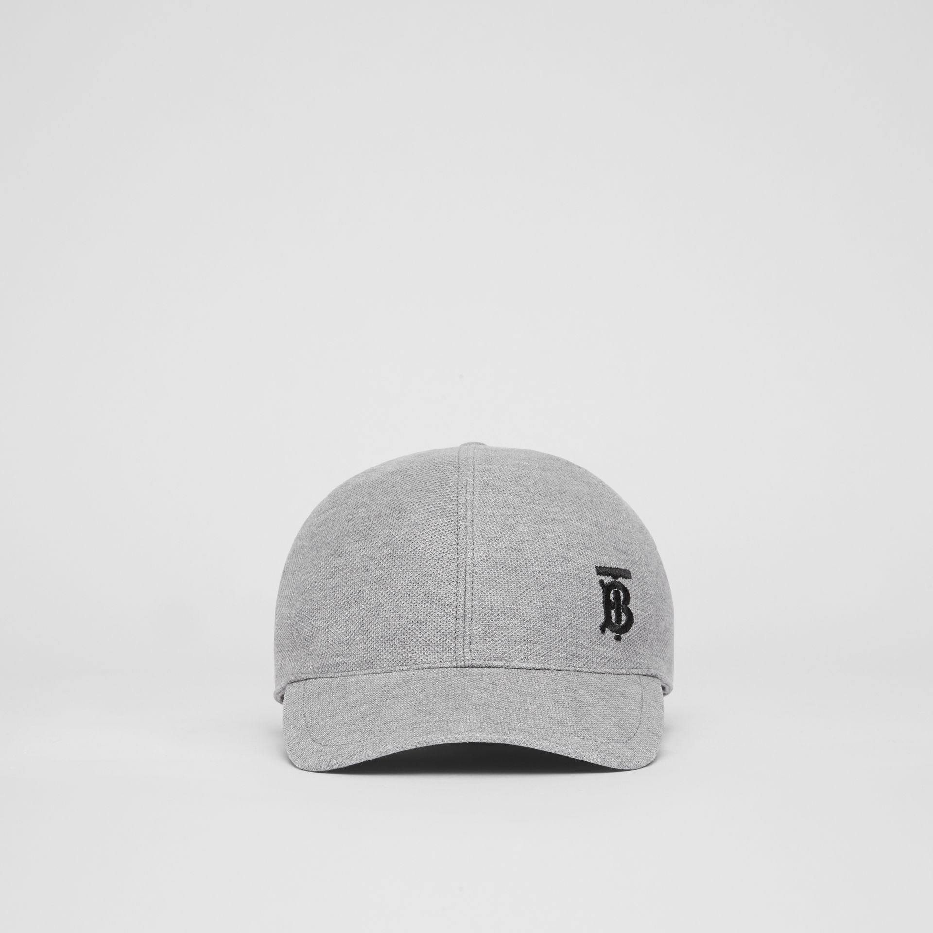 Monogram Motif Baseball Cap in Pale Grey Melange | Burberry - gallery image 4