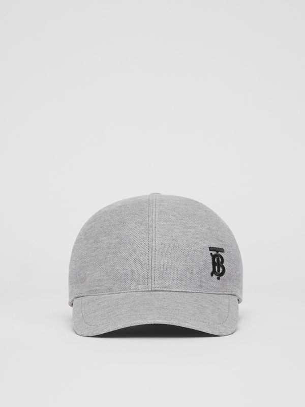 Monogram Motif Baseball Cap in Pale Grey Melange | Burberry United Kingdom - cell image 3