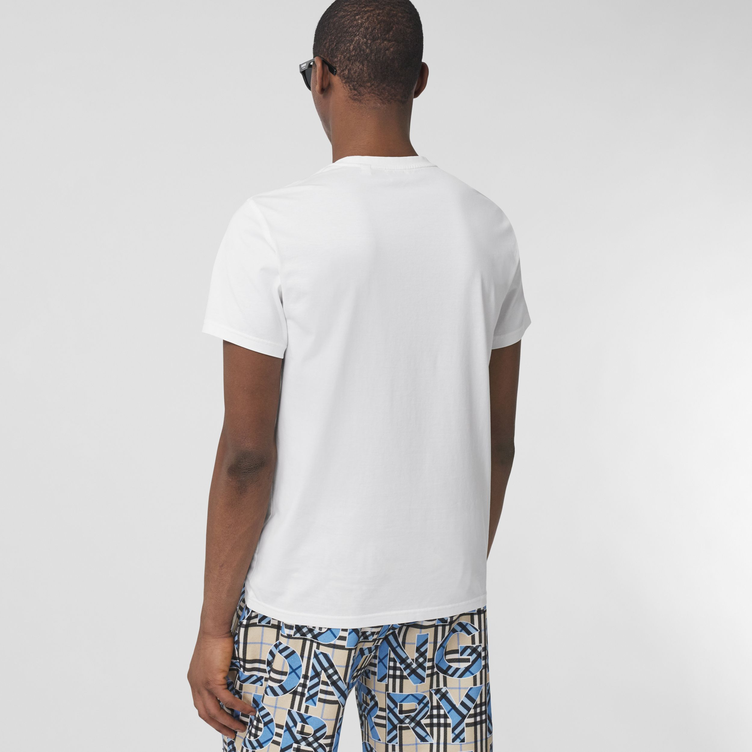 Monogram Motif Cotton T-shirt in White - Men | Burberry United Kingdom - 3