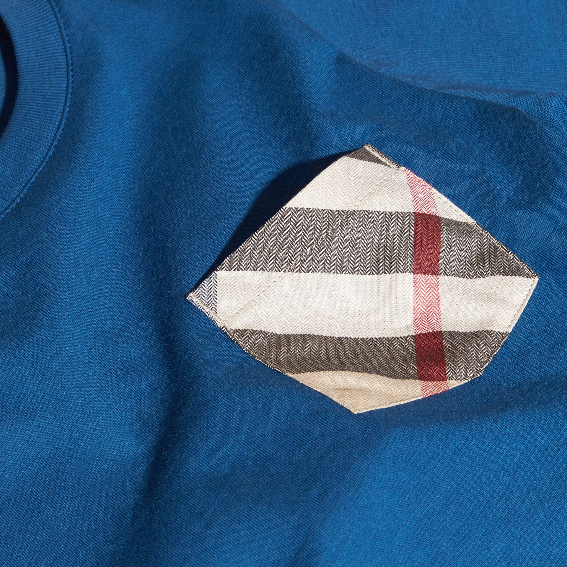 Mineral blue Check Pocket T-Shirt Mineral Blue - gallery image 2
