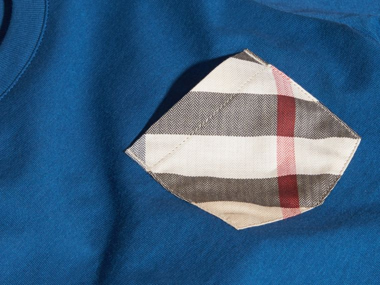 Mineral blue Check Pocket T-Shirt Mineral Blue - cell image 1
