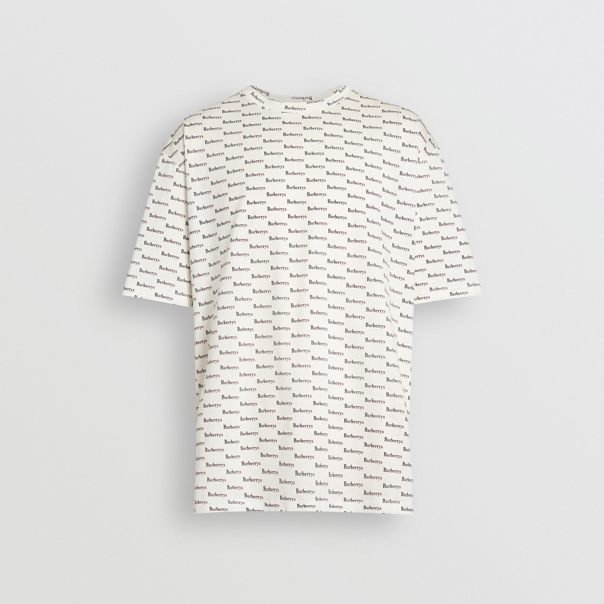 Archive Logo Print Cotton T-Shirt in White - Men | Burberry - gallery image 3