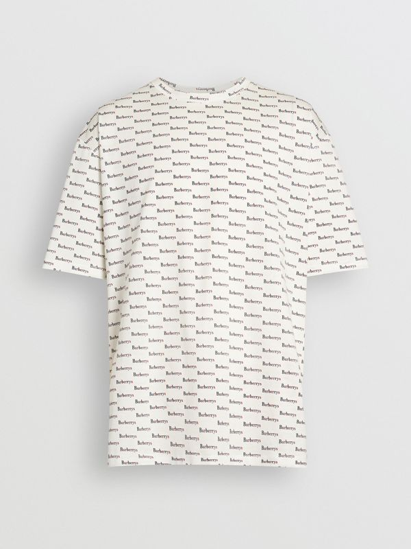 Archive Logo Print Cotton T-Shirt in White - Men | Burberry - cell image 3