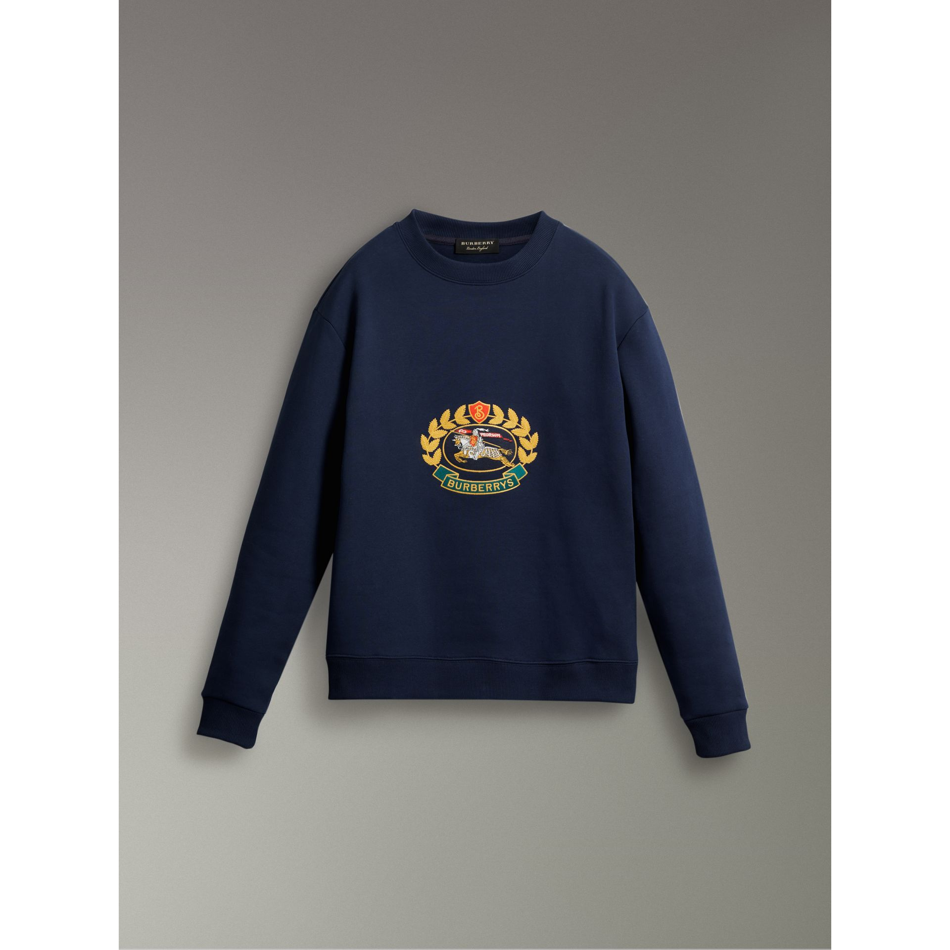 Reissued Jersey Sweatshirt in Dark Blue - Women | Burberry - gallery image 3