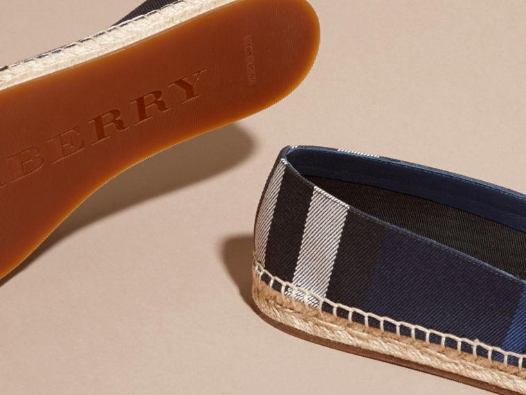 Leather Trim Canvas Check Espadrilles - Women | Burberry - cell image 4