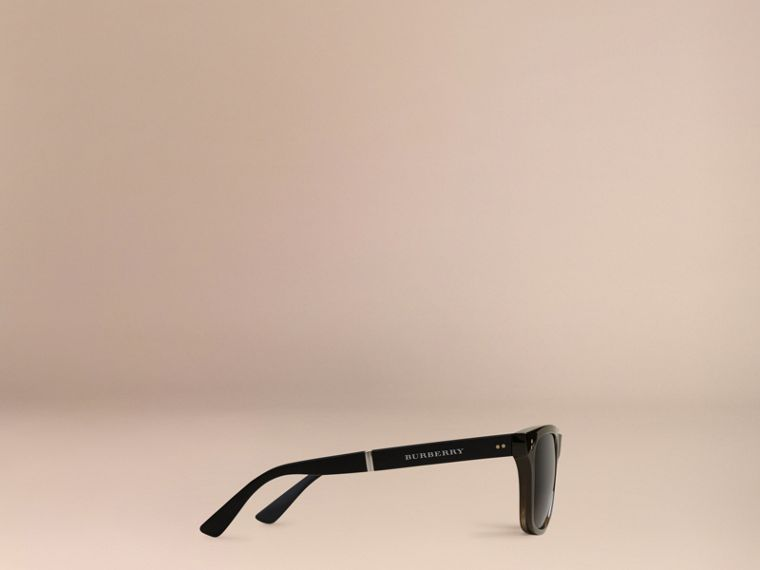 Folding Rectangular Frame Polarised Sunglasses in Grey - Men | Burberry United States - cell image 4