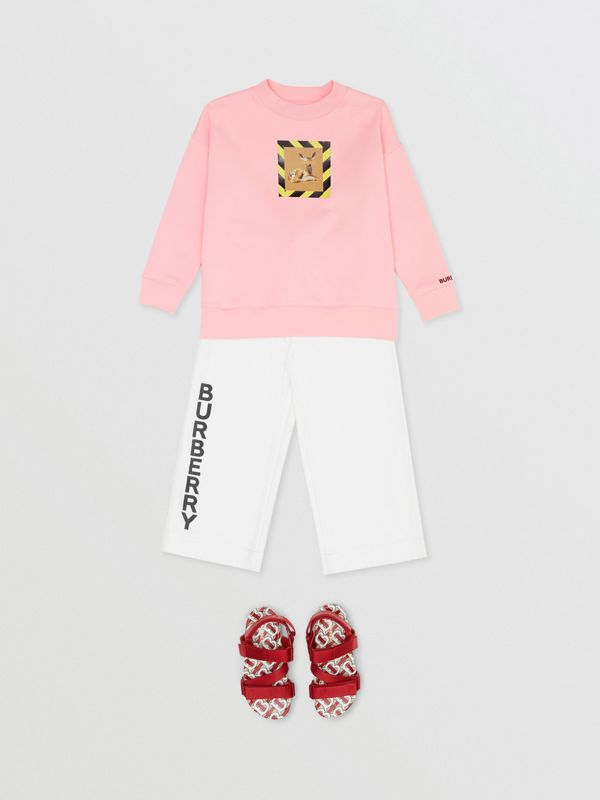 Deer Print Cotton Sweatshirt in Candy Pink | Burberry - cell image 2