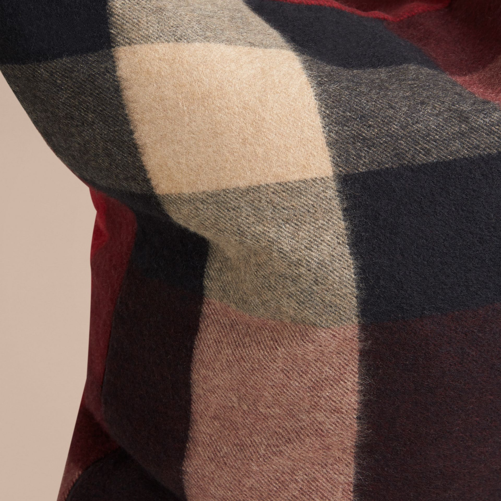 Claret Check Cashmere Cushion Cover Claret - gallery image 2
