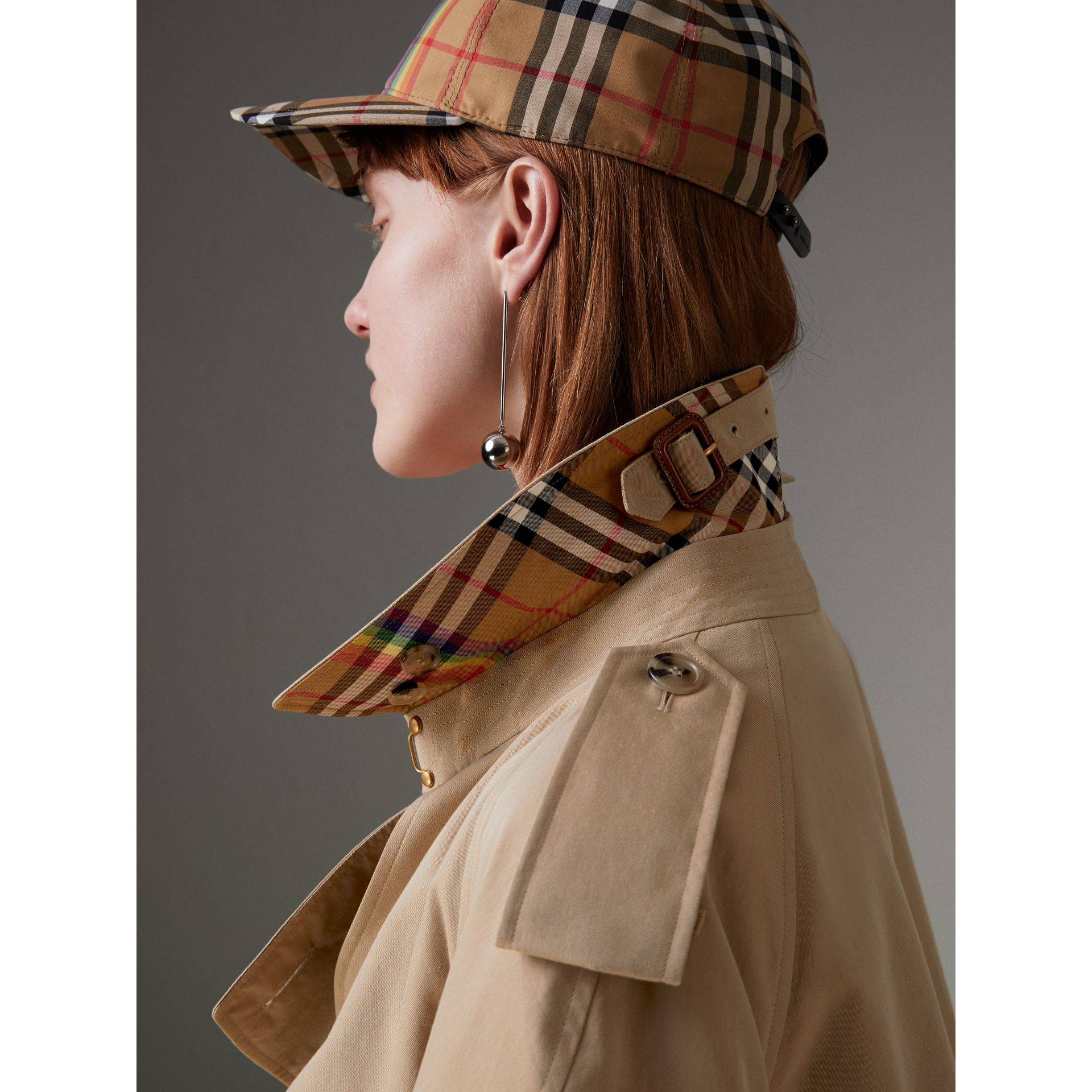 Rainbow Tropical Gabardine Trench Coat in Honey - Women | Burberry - gallery image 1