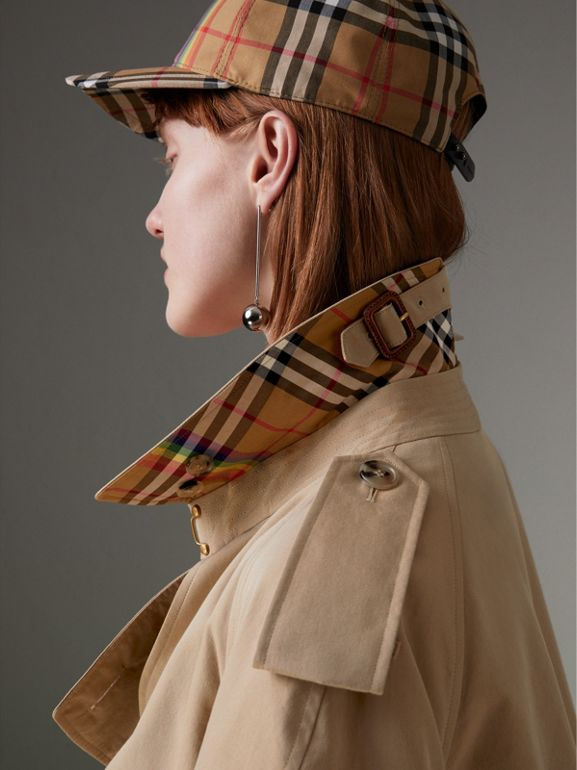 Tropical Gabardine Trench Coat in Honey - Women | Burberry - cell image 1
