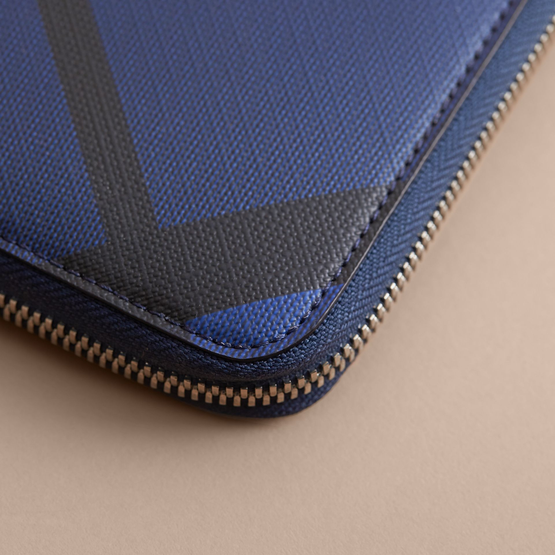 London Check Ziparound Wallet Bright Lapis - gallery image 2