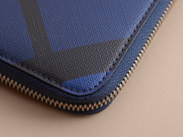 London Check Ziparound Wallet in Bright Lapis - Men | Burberry - cell image 1